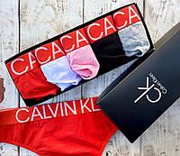 Набор женских стрингов Кельвин Кляйн, красивое женское нижнее белье CK, жіноча нижня білизна КК