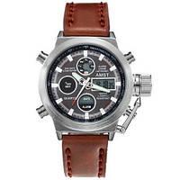 Оригинальные наручные часы AMST 3003 Silver-Black-Brown Wristband, 100% ОРИГИНАЛ