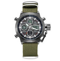 Оригинальные наручные часы AMST 3003 Black-Black Green Wristband, 100% ОРИГИНАЛ