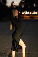 Трикотажное платье до колена Lameia Черное