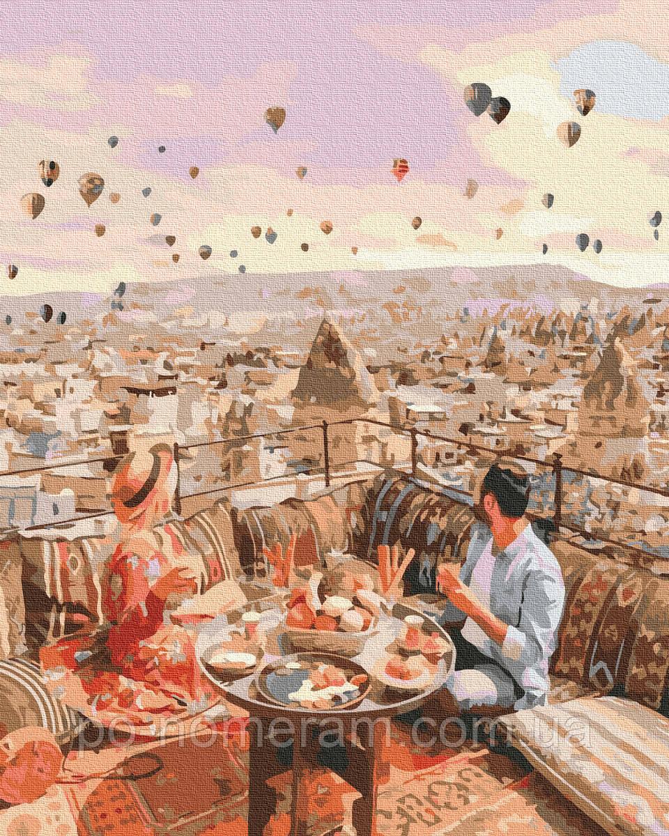 Картина по номерам  Свидание в Каппадокии (BK-GX38265) 40 х 50 см (Без коробки)