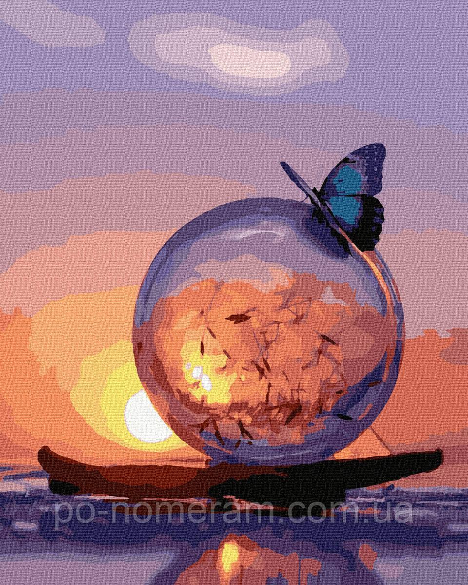 Картина по номерам  Бабочка и одуванчик (BRM38205) 40 х 50 см
