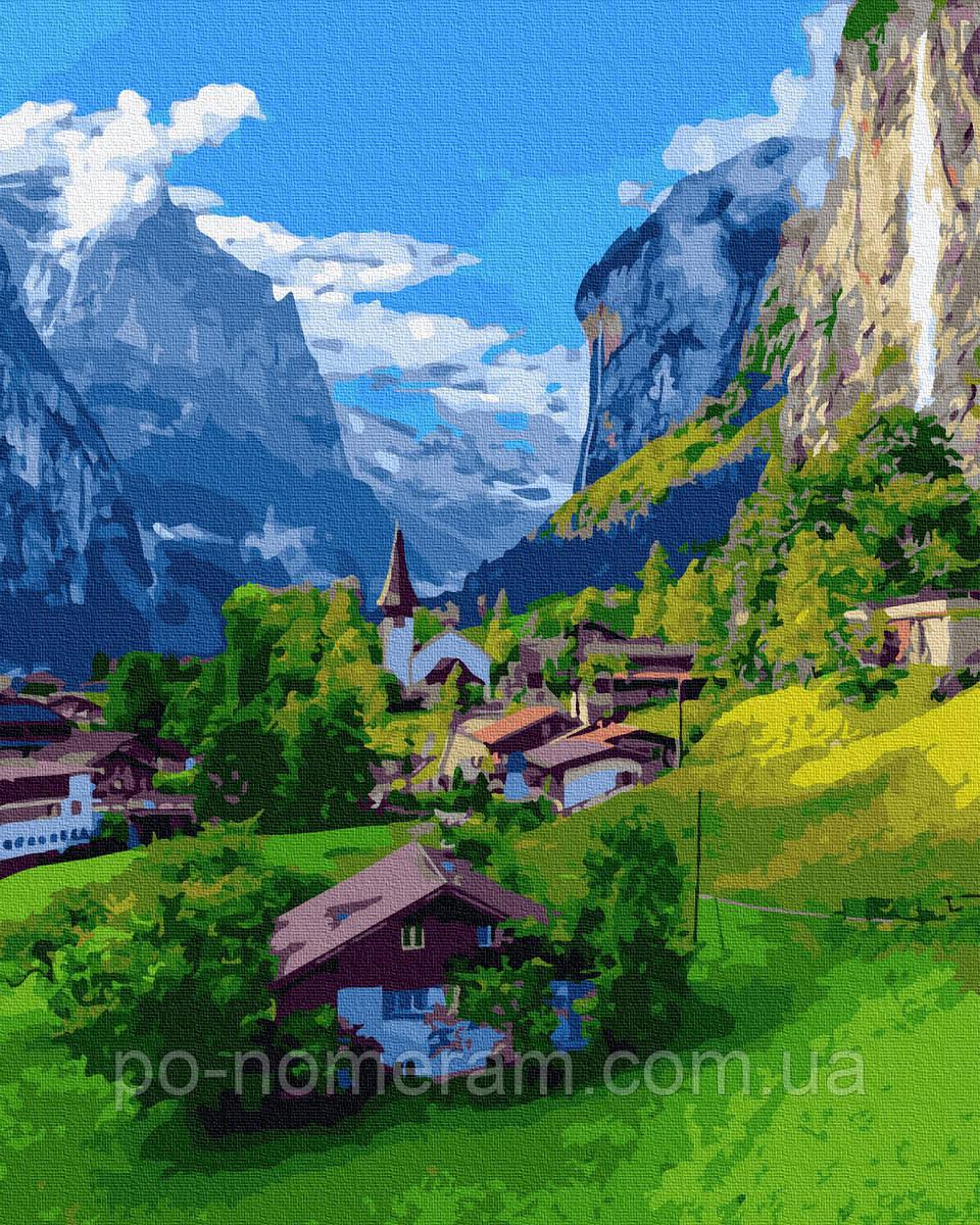 Картина по номерам  Красоты Швейцарии (BRM38231) 40 х 50 см