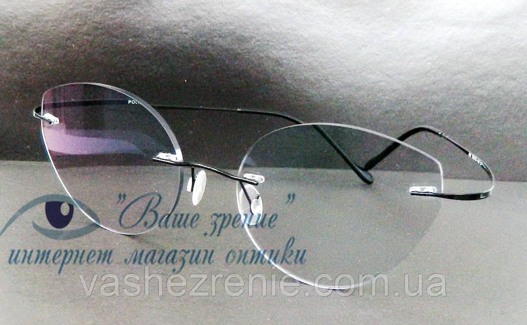 Очки женские для зрения +/-, безободковые. Код:3024