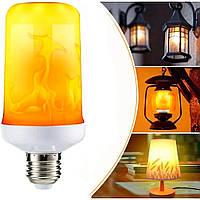 Лампа/Лампочка светильник с эффектом пламени led flame light bulb - имитация огня Е27