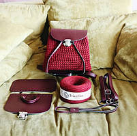 Набор для рюкзака экокожа Белый (5 позиций) фурнитура серебро, фото 2