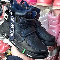 Ботинки, Хайтопы, кроссовки для мальчика 32,34,35,36,37 Деми Clibee утепленая байкой, синие на пене
