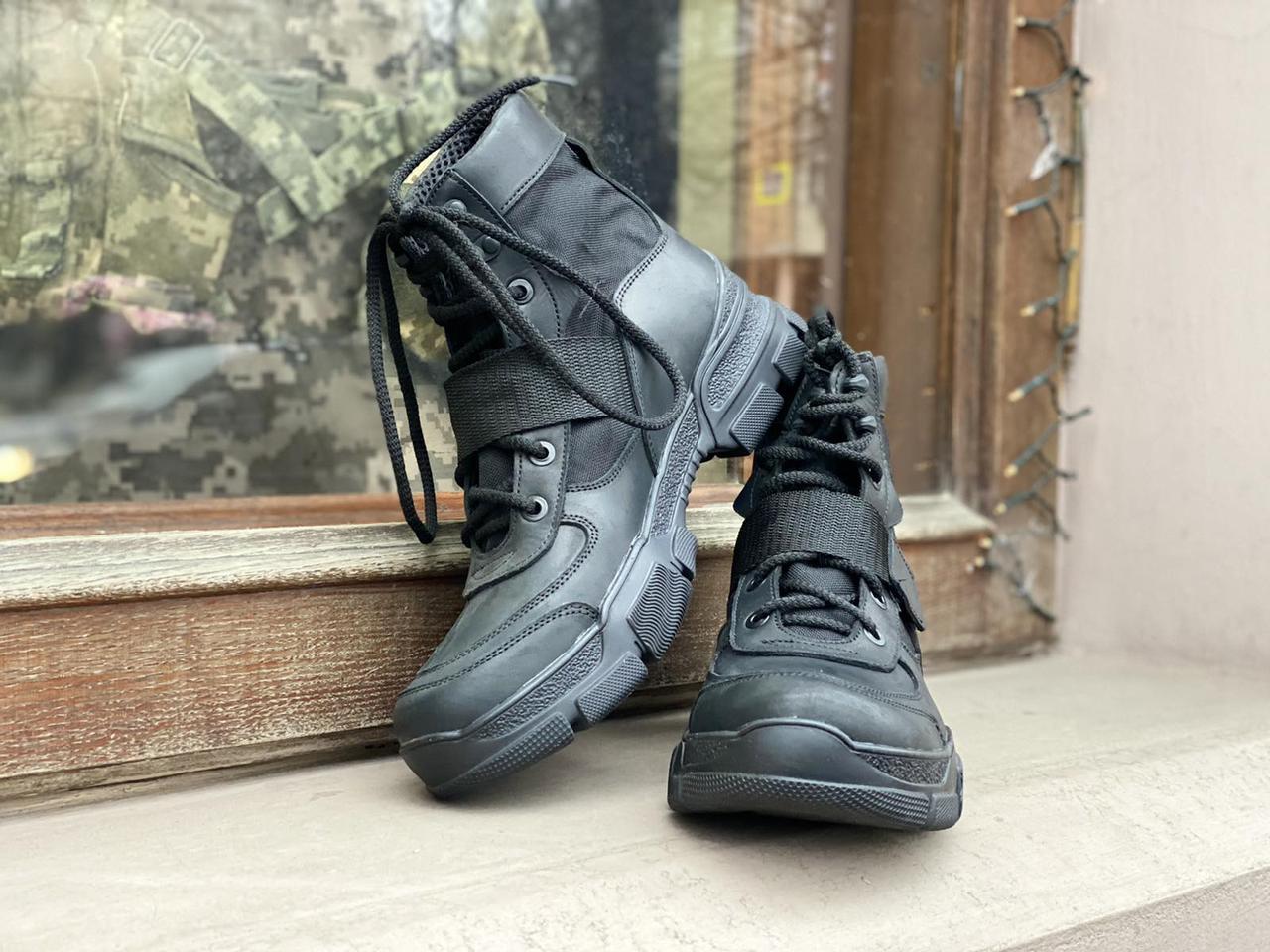 Ботинки тактические Strap  BLACK
