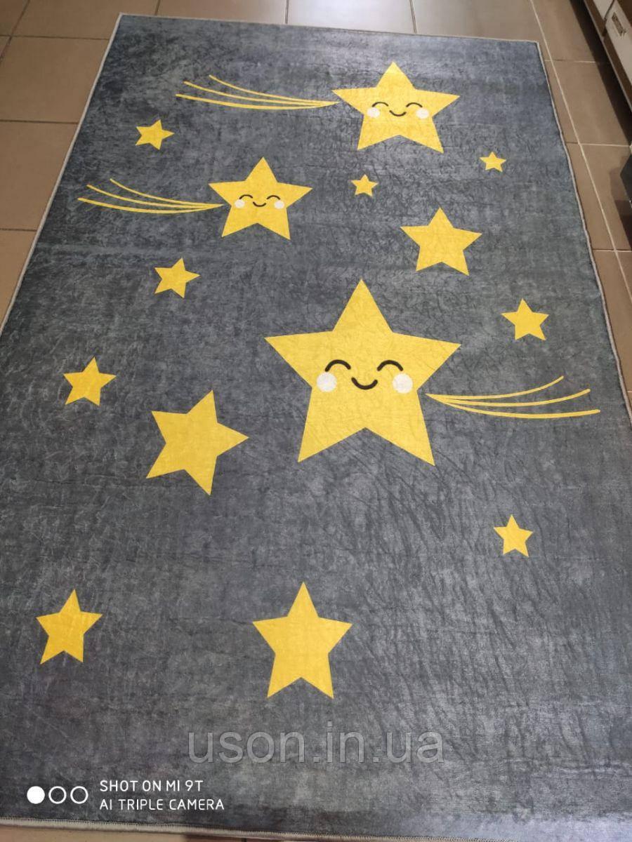 Коврик прямоугольный в детскую комнату Chilai Home Yellow star