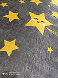 Коврик прямоугольный в детскую комнату Chilai Home Yellow star, фото 2
