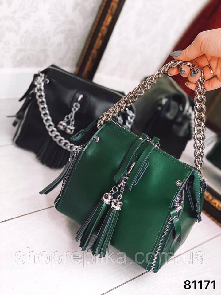 Зеленая Сумка Кросс Боди на молнии Кожаная сумка в зеленом цвете зеленый кожаный клатч df265f13