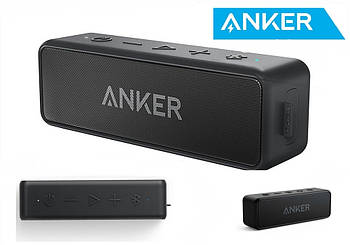 Anker SoundCore 2 Black Портативная колонка Анкер 12 Вт влагозащищенная IPX7 5200mAh + AUX / Bluetooth 5.0