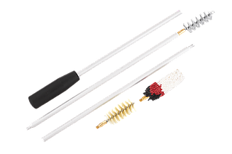 Набор для чистки оружия 12 калибра ПВХ упаковка (три насадки:спираль, синтетика, пуховик)