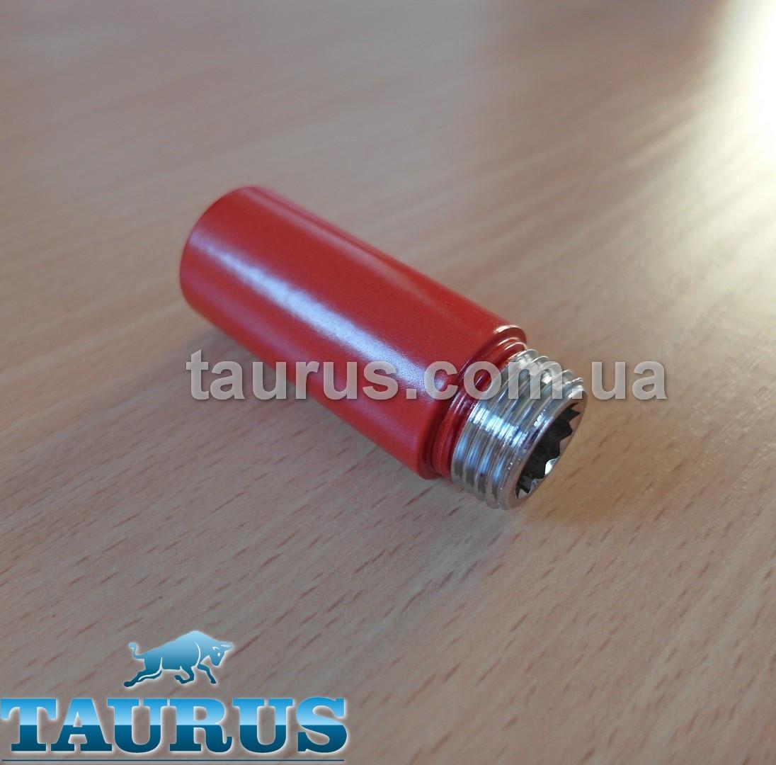 """Червоні подовжувачі від 10 до 90 мм. Різьбове з'єднання внутр. 1/2"""" - зовнішнє 1/2"""" RED"""