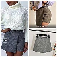 Женская твидовая юбка-шорты, фото 1