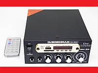 Усилитель звука BM AUDIO BM-800BT FM USB 2x300W Блютуз + Караоке