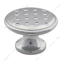 Ручка меблева металева Милах 5052-06 Ekonomik Noktali Dugme хром без шурупів 757170