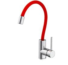 Змішувач для кухонної раковини Kraft 3004-R з гнучким носиком