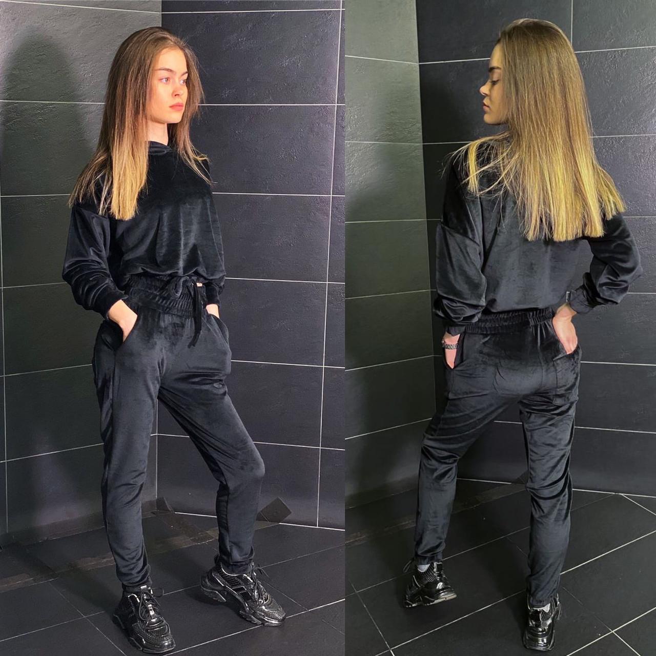 Женский молодежный спортивный костюм двойка весна 2021, разные цвета р.42-44,46-48 Код 1019V