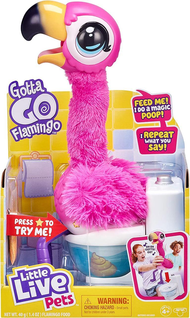 Интерактивный Фламинго Шербет Moose Little Live Pets Gotta Go Flamingo Moose Enterprise Оригинал