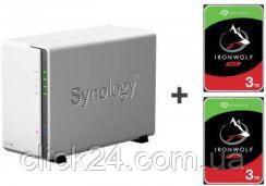 Synology DS220j 6TB (2xHDD,4x1.4GHz,512MB,2xUSB,1xLAN) (DS220JWZESTAWIE2XST3000VN007)