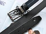 Брендовый кожаный ремень Tommy Hilfiger 21896 черный, фото 2