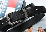 Брендовый кожаный ремень Tommy Hilfiger 21896 черный, фото 3