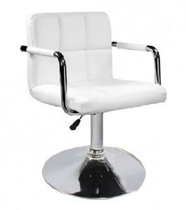 М'яке крісло Артур хром млинці сидіння - екокожа білого кольору