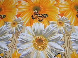 Ткань для пошива постельного белья бязь голд Цветущий луг