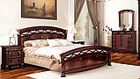 Ліжко 1,6х2,0 Люкс з підйомним механізмом , Спальня Роселла, RS-47-RB, перо рубіно, МИРОМАРК, фото 4