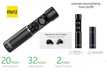 Сенсорные беспроводные наушники Mifa  X1 гарнитура + Power Bank 400mAh Bluetooth 5.0 Touch control