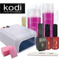 Стартовый набор для маникюра KODI Professional с УФ Лампой мини