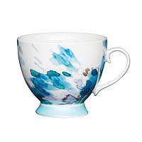 KC Чашка фарфоровая Голубая акварель 400 мл