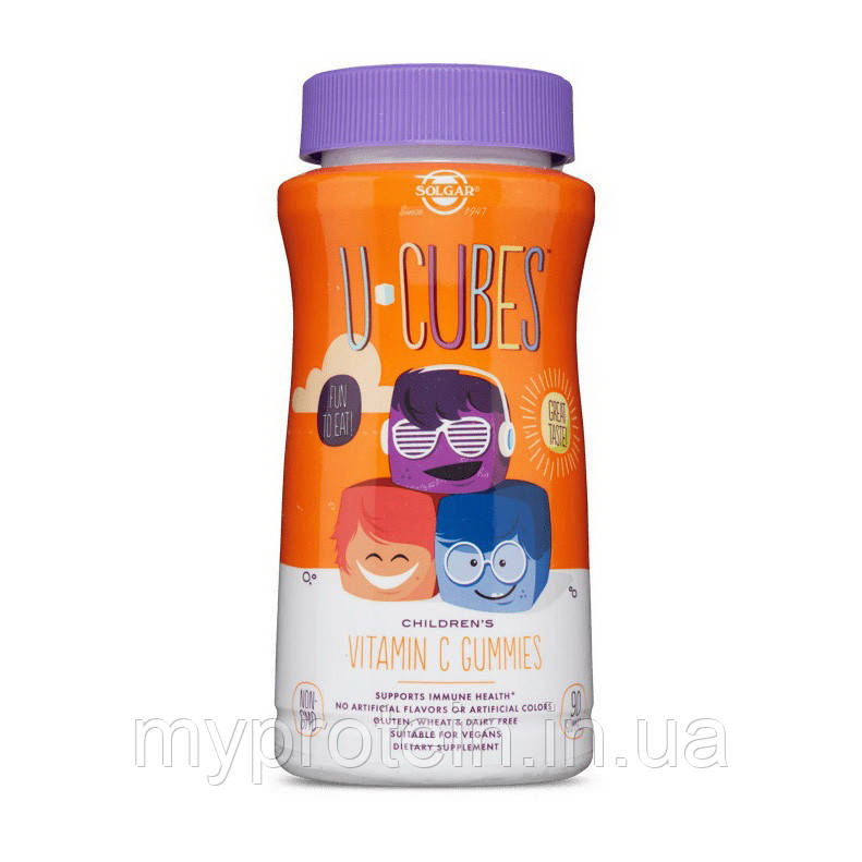 SolgarВитамины и минералы для детейU-Cubes Children's Vitamin C 90 gummies