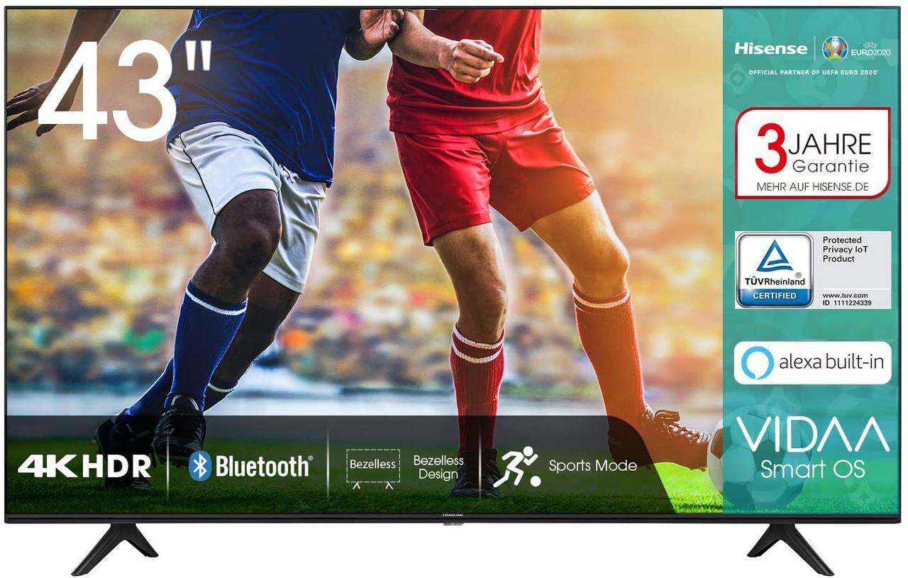 Телевизор Hisense H43AE7000 (Smart TV / Ultra HD / 4К  / Wi-Fi / Dolby Digital / DVB-C/T/S/T2/S2)