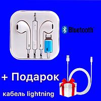 Проводные наушники для Айфона EarPods Lightning Bluetooth iPhone 5/6/7/7+/8/8+X/XS/XR/11/12/iPad + ПОДАРОК