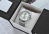 Брендовые наручные часы Calvin Klein 21899 с магнитным ремешком серебристые, фото 2