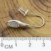 Серьги Xuping 29162 размер 29х11 мм белые фианиты вес 2.1 г позолота Белое Золото, фото 2
