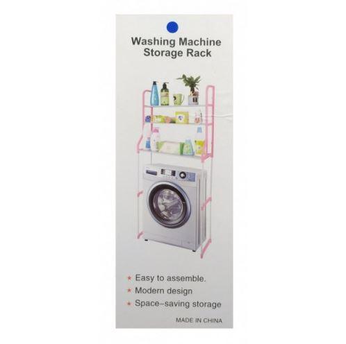 Полка-стеллаж над стиральной машиной напольная тумба 152 см Белая TyT