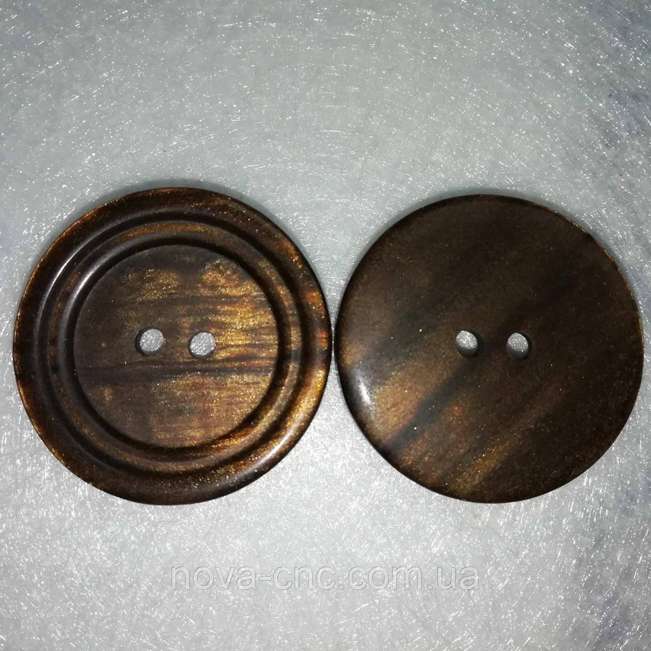 Пуговицы  пластмассовые 28 мм Цвет коричневый Упаковка примерно 100 штук
