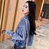 Куртка жіноча коротка джинсова світло-синя Girl #75, фото 2