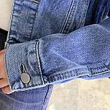 Куртка женская джинсовая короткая светло-синяя Girl #75, фото 9