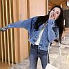 Куртка женская джинсовая короткая светло-синяя Girl #75, фото 3