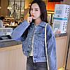 Куртка жіноча коротка джинсова світло-синя Girl #75, фото 8