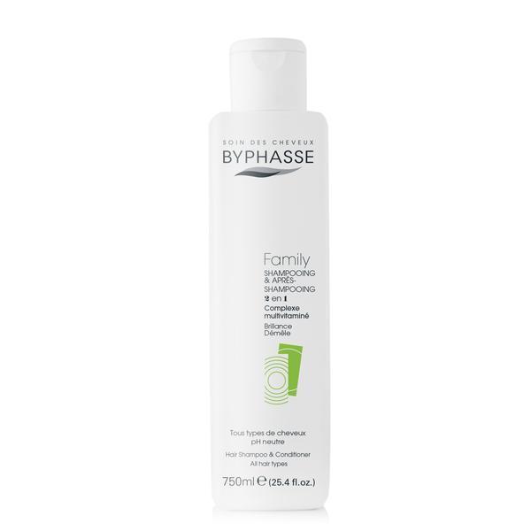 Byphasse Family Shampoo And Conditioner Multivitamin Complex Шампунь и кондиционер для всей семьи шампунь 750