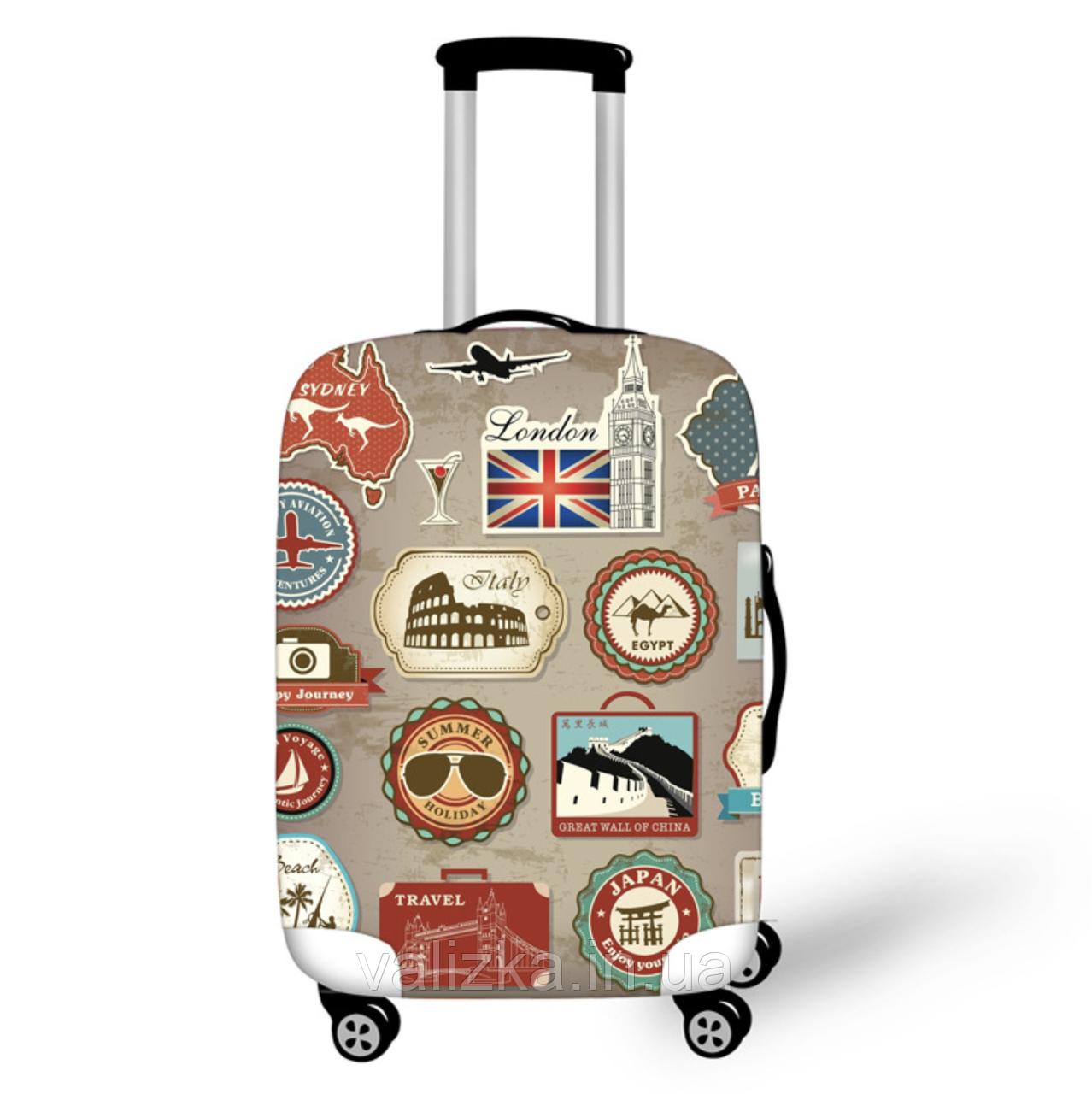 Чехол для маленького чемодана с принтом марки