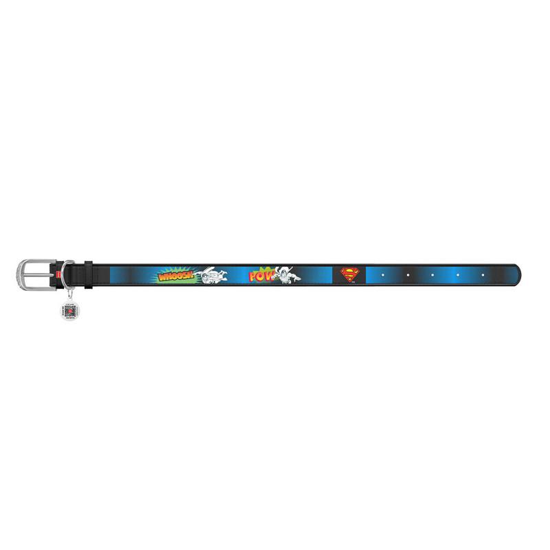Ошейник WAUDOG Design черный кожа металлическая пряжка 0035-1008-01 (4823089323152)
