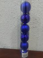Елочные шарики 5см 6шт/наб в тубусе Синий