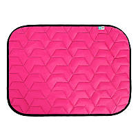Подстилка AiryVest для собак 100х70см L розовая/черная 0085 (4823089311852)