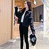 Куртка жіноча джинсова коротка чорна Girl #76 S, фото 3